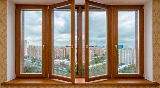 Новые окна с широкими рамами