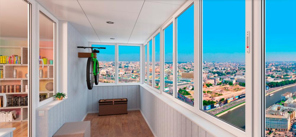 застеклить балкон лоджию